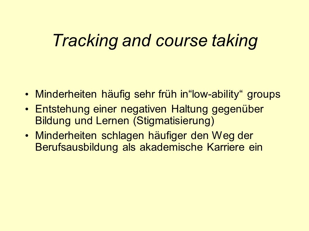 Tracking and course taking
