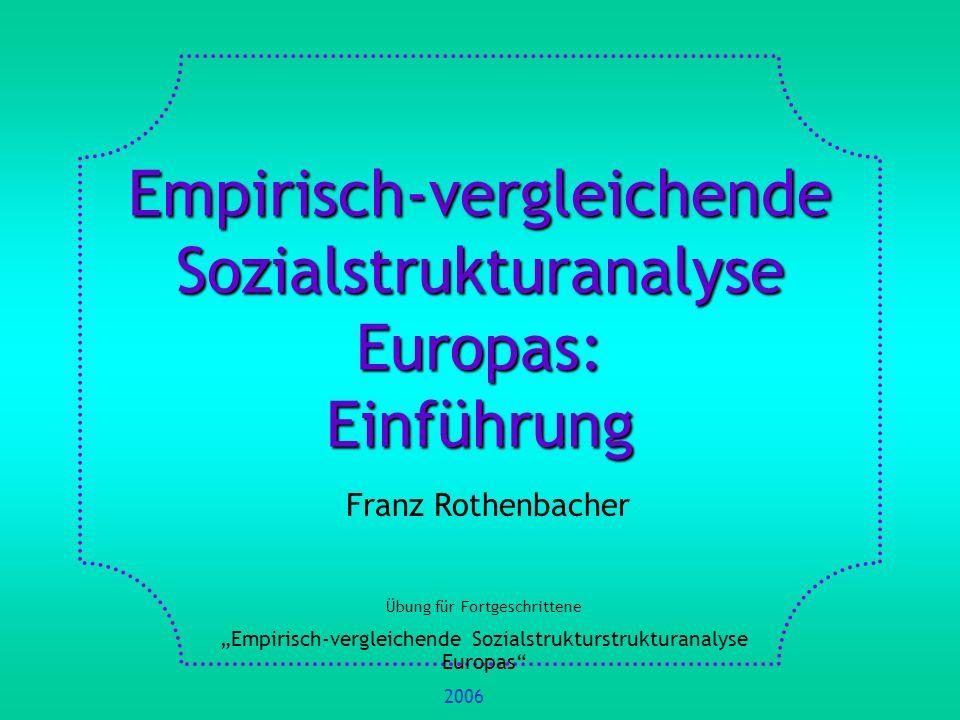 Empirisch-vergleichende Sozialstrukturanalyse Europas: Einführung