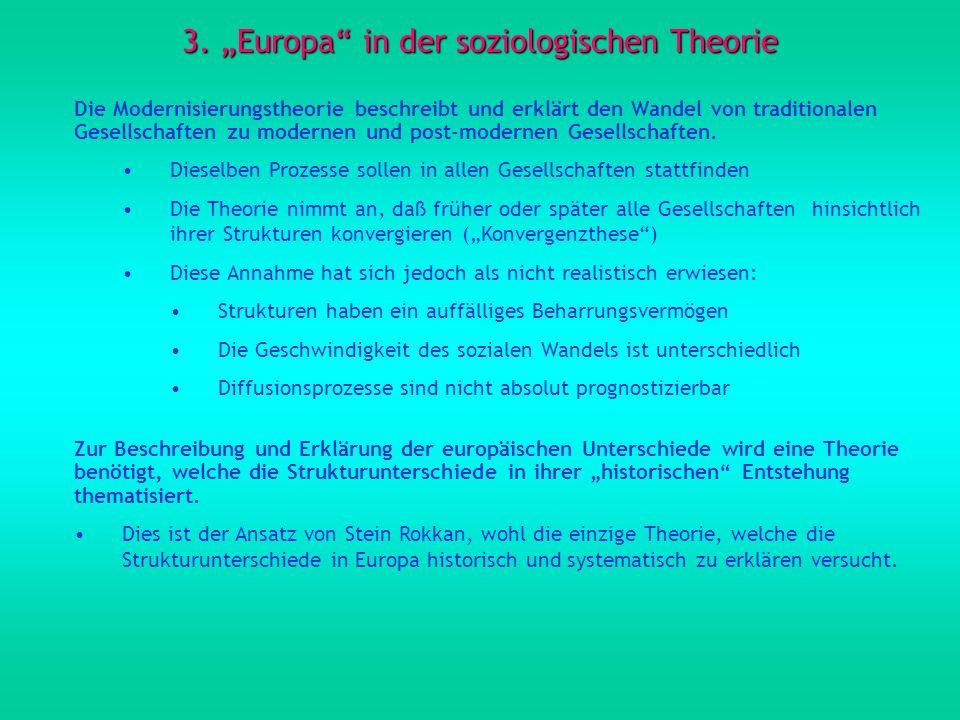 """3. """"Europa in der soziologischen Theorie"""