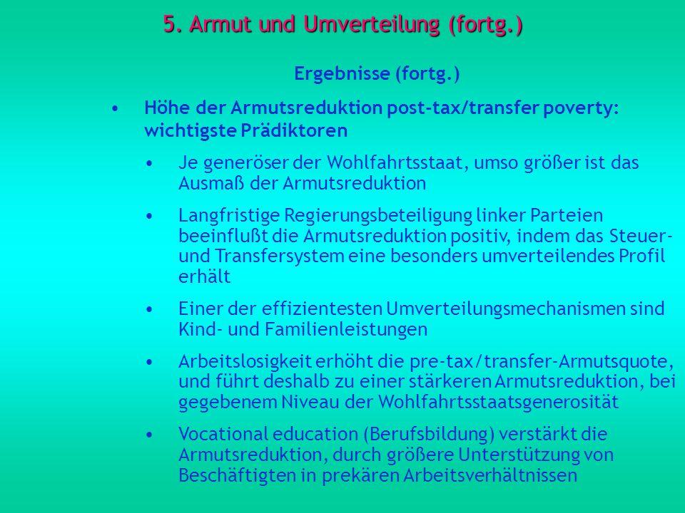 5. Armut und Umverteilung (fortg.)