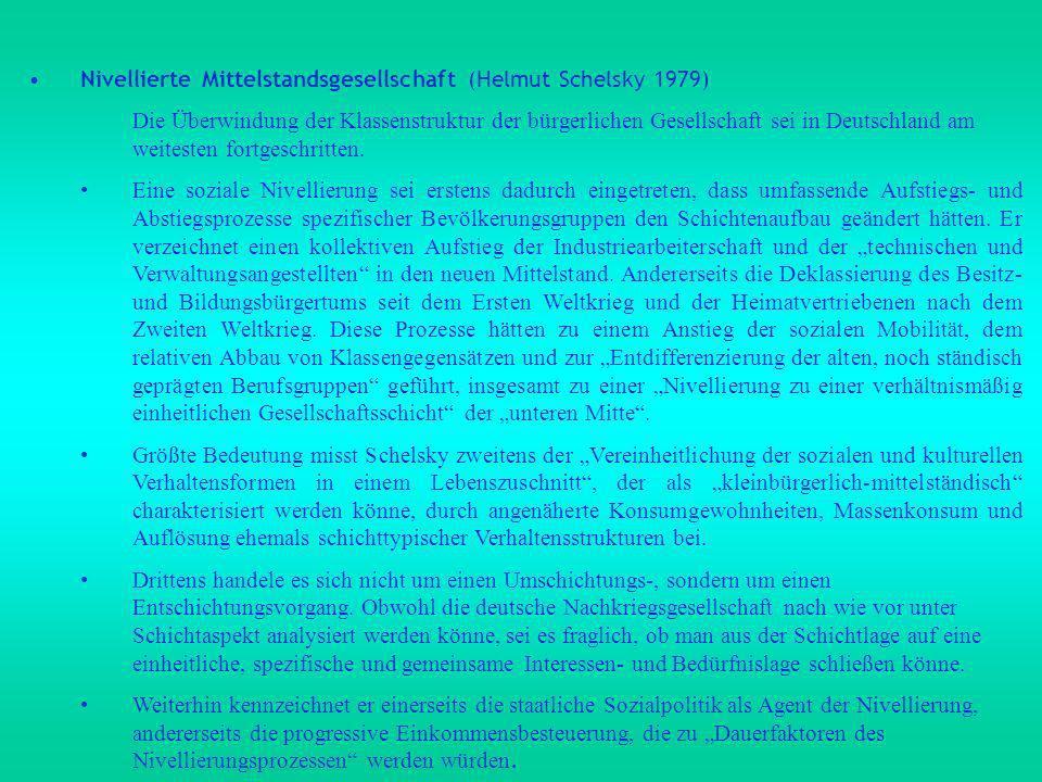 Nivellierte Mittelstandsgesellschaft (Helmut Schelsky 1979)