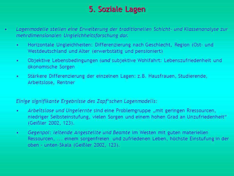 5. Soziale Lagen