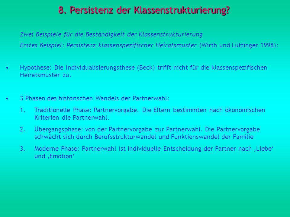 8. Persistenz der Klassenstrukturierung