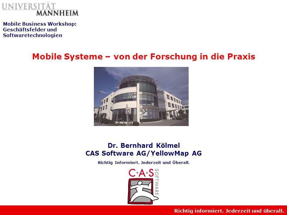 Mobile Business Workshop: Geschäftsfelder und Softwaretechnologien
