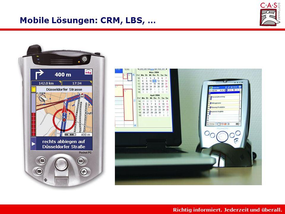 Mobile Lösungen: CRM, LBS, …