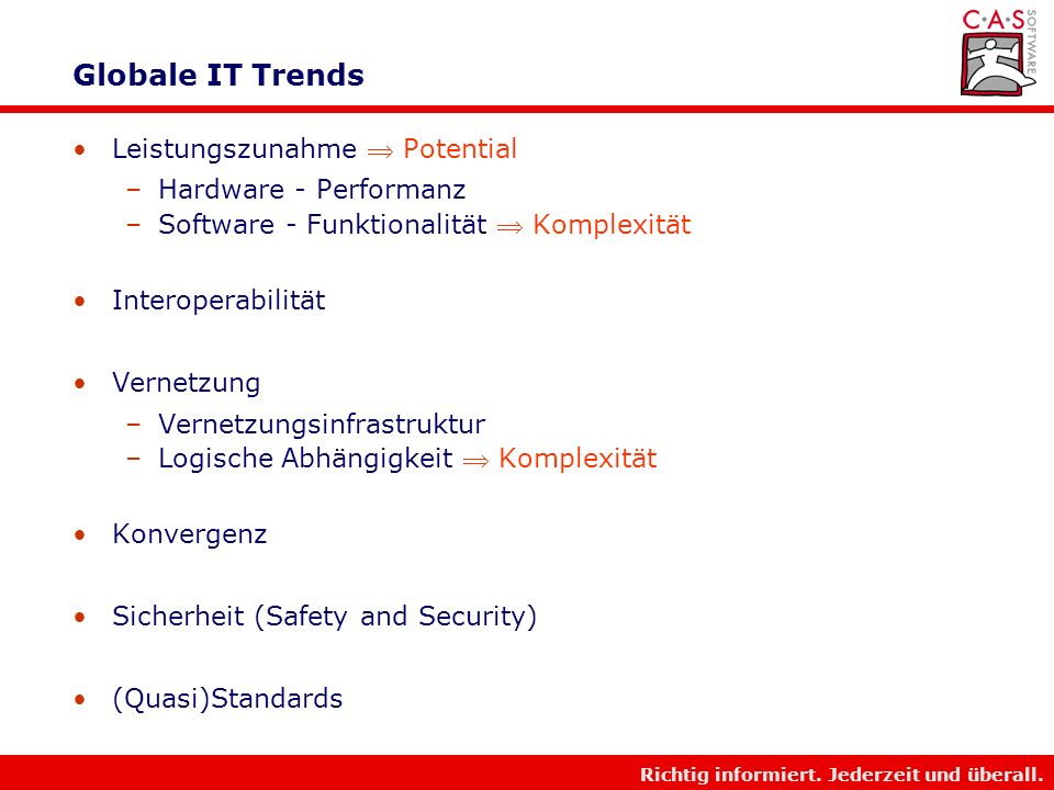 Globale IT Trends Leistungszunahme  Potential Hardware - Performanz