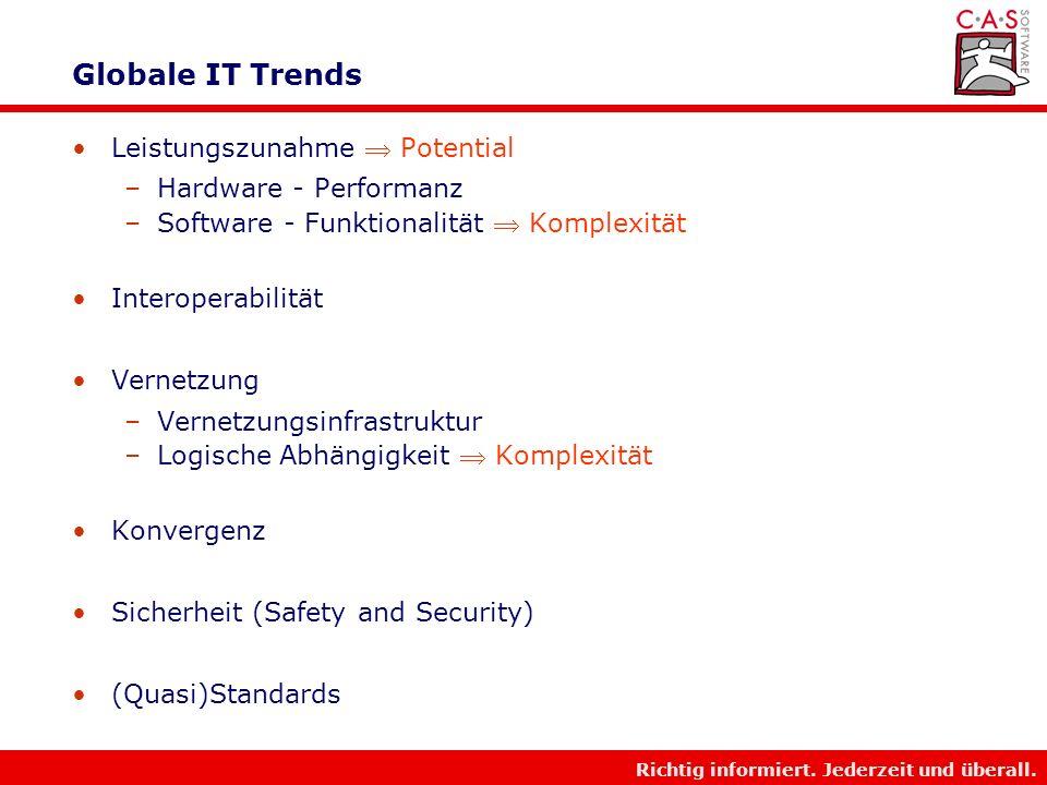 Globale IT Trends Leistungszunahme  Potential Hardware - Performanz