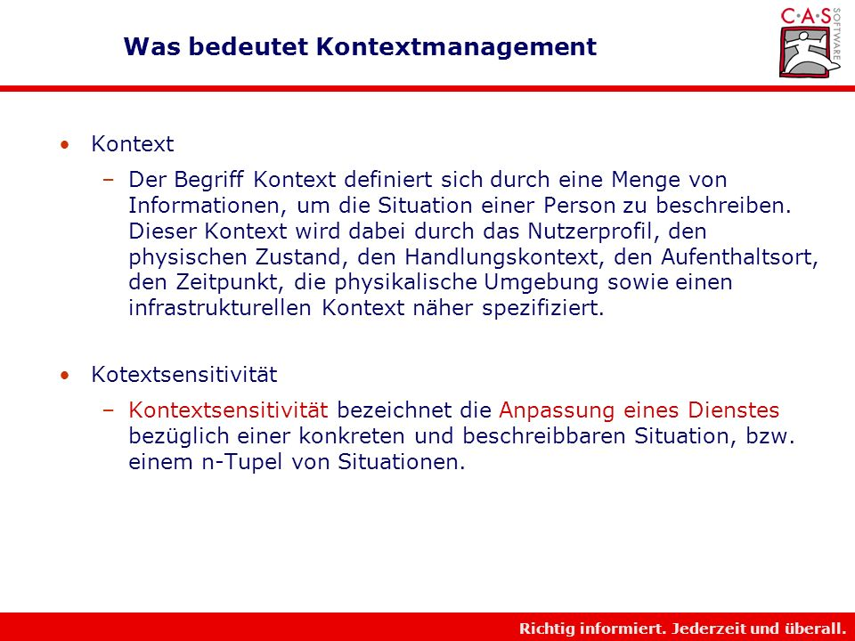 Was bedeutet Kontextmanagement