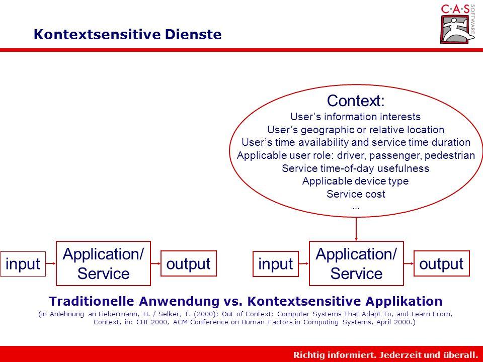 Kontextsensitive Dienste
