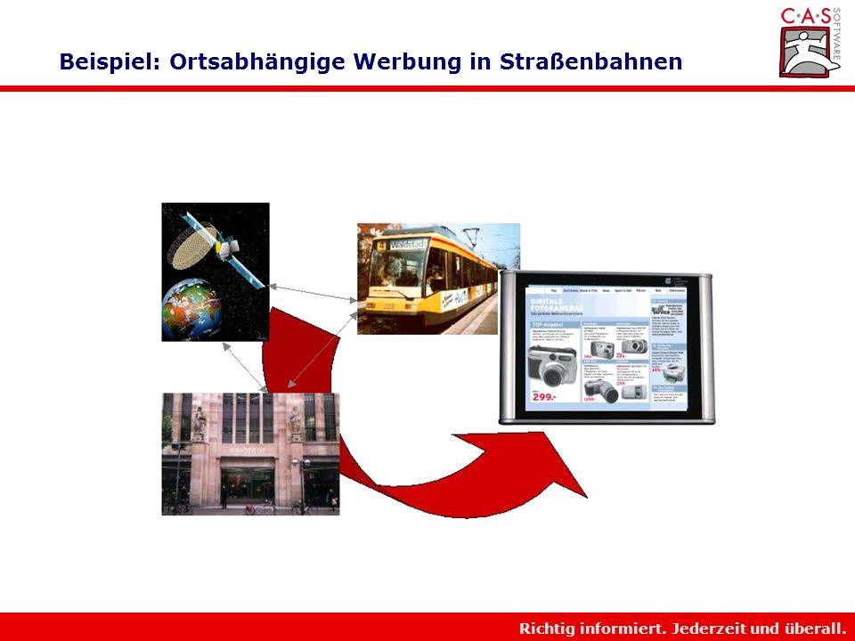 Beispiel: Ortsabhängige Werbung in Straßenbahnen