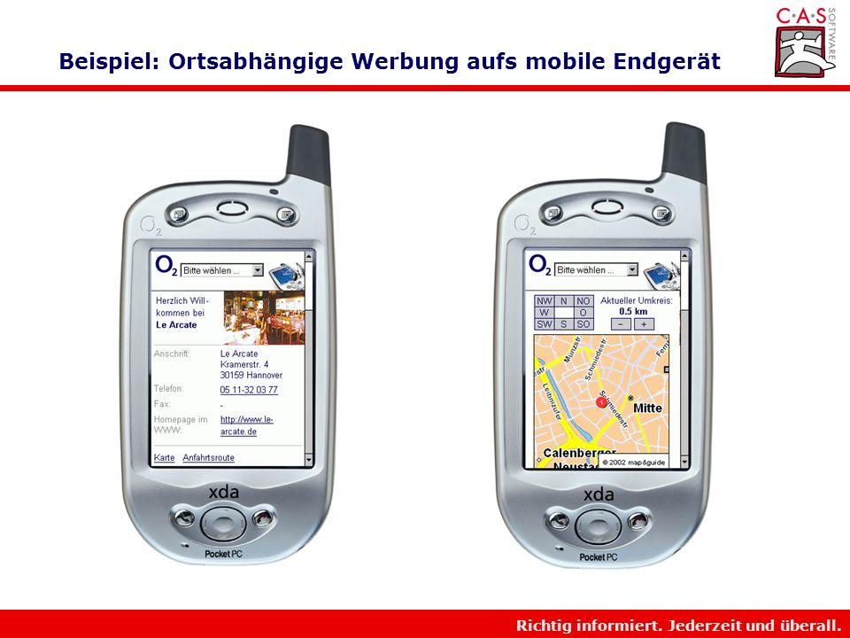 Beispiel: Ortsabhängige Werbung aufs mobile Endgerät