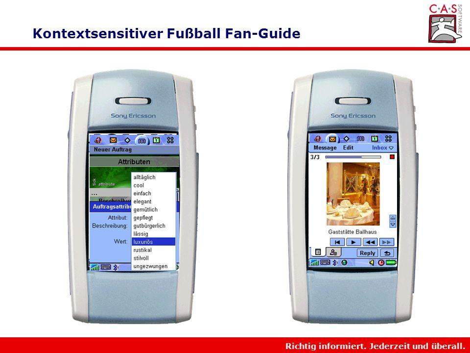 Kontextsensitiver Fußball Fan-Guide