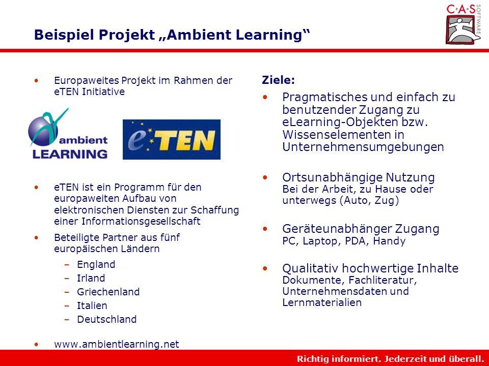 """Beispiel Projekt """"Ambient Learning"""