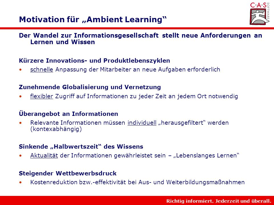 "Motivation für ""Ambient Learning"