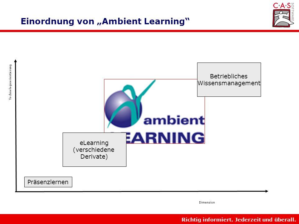 """Einordnung von """"Ambient Learning"""