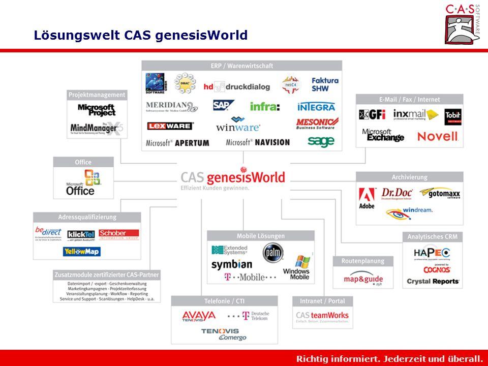 Lösungswelt CAS genesisWorld
