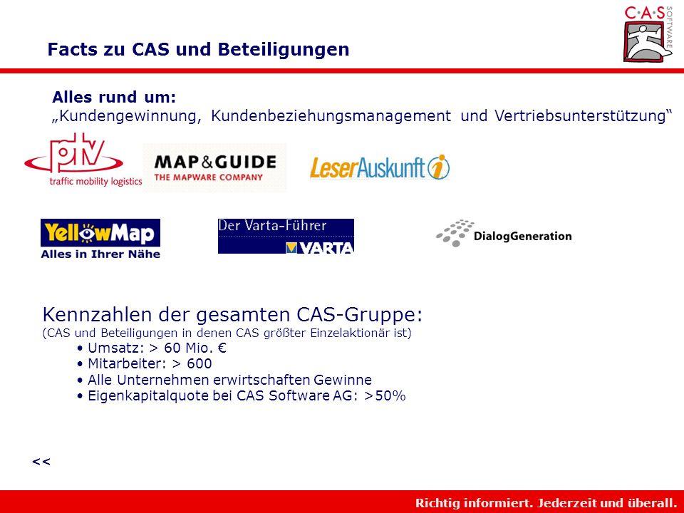 Facts zu CAS und Beteiligungen