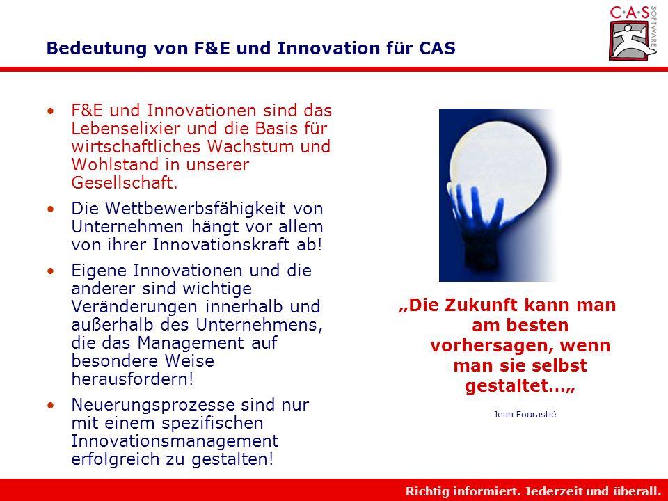 Bedeutung von F&E und Innovation für CAS