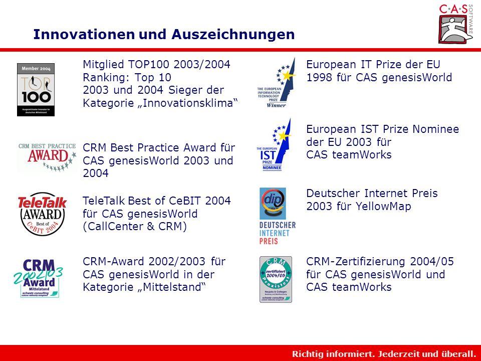 Innovationen und Auszeichnungen