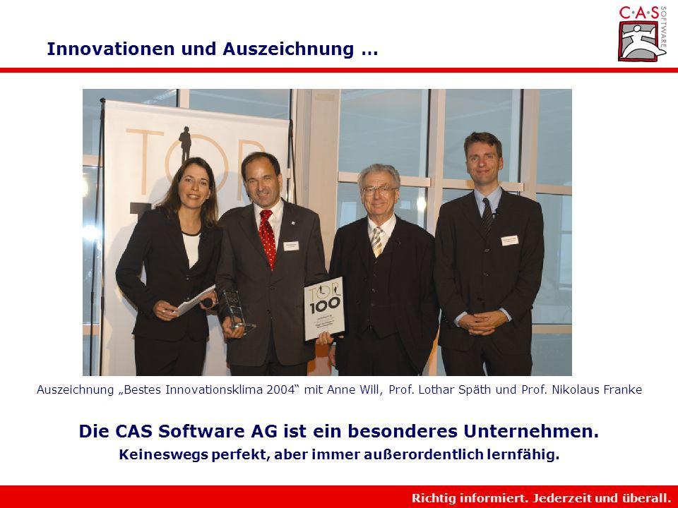 Innovationen und Auszeichnung …
