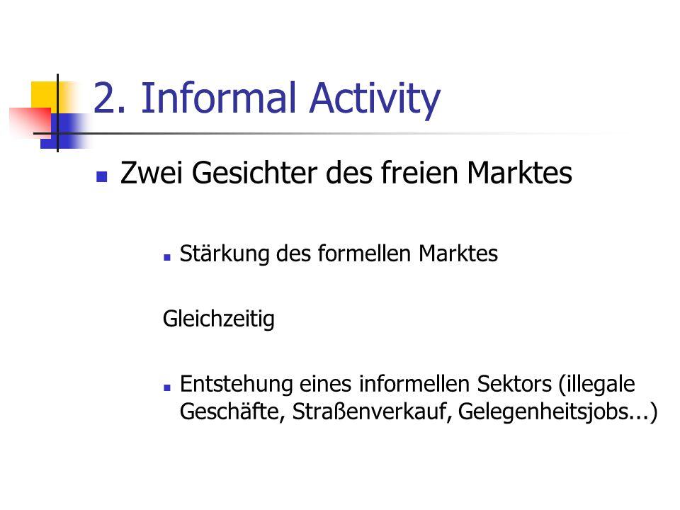 2. Informal Activity Zwei Gesichter des freien Marktes