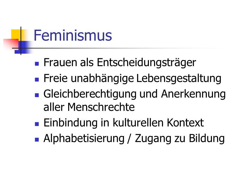 Feminismus Frauen als Entscheidungsträger