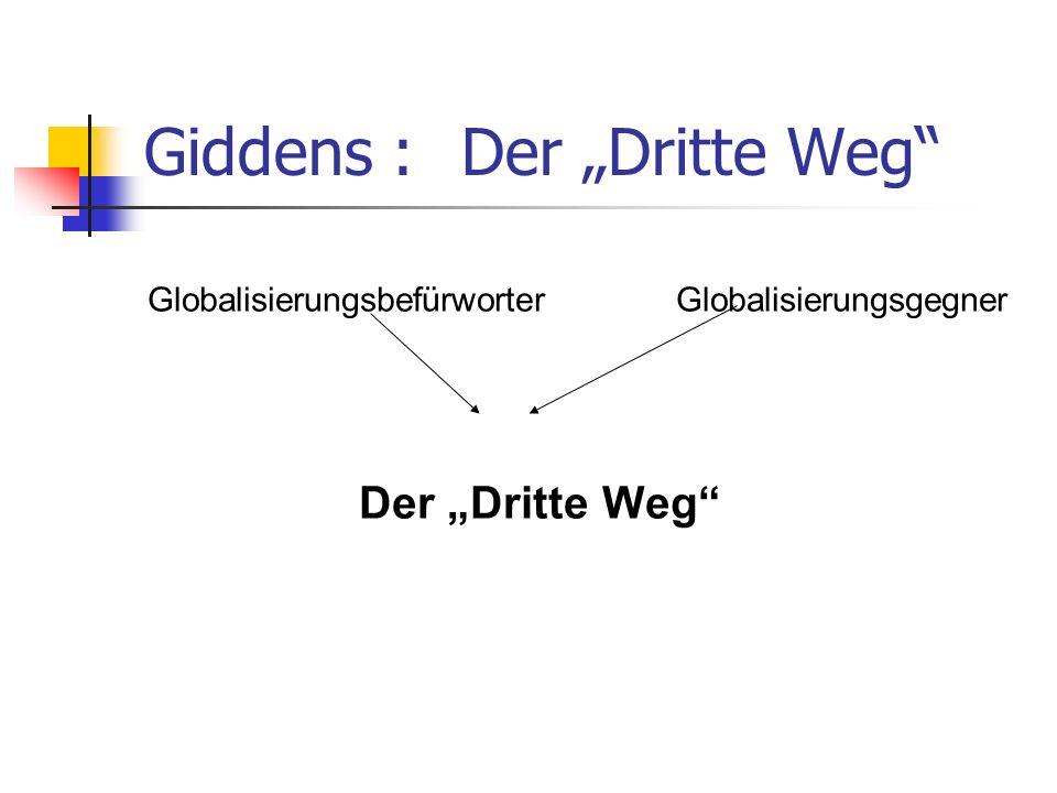 """Giddens : Der """"Dritte Weg"""