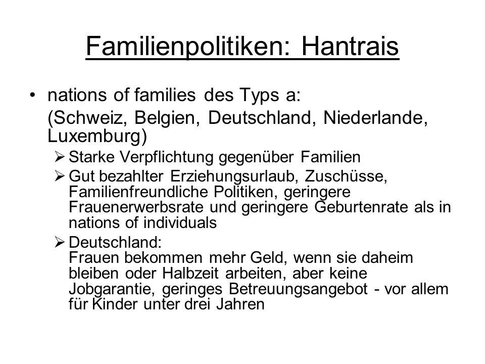 Familienpolitiken: Hantrais