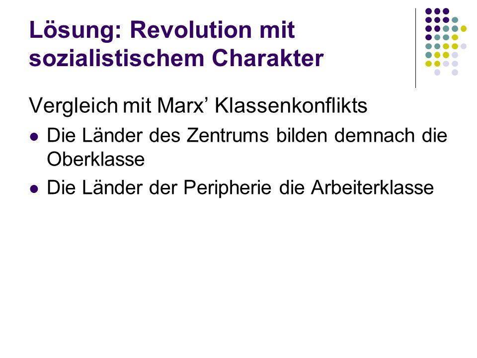 Lösung: Revolution mit sozialistischem Charakter