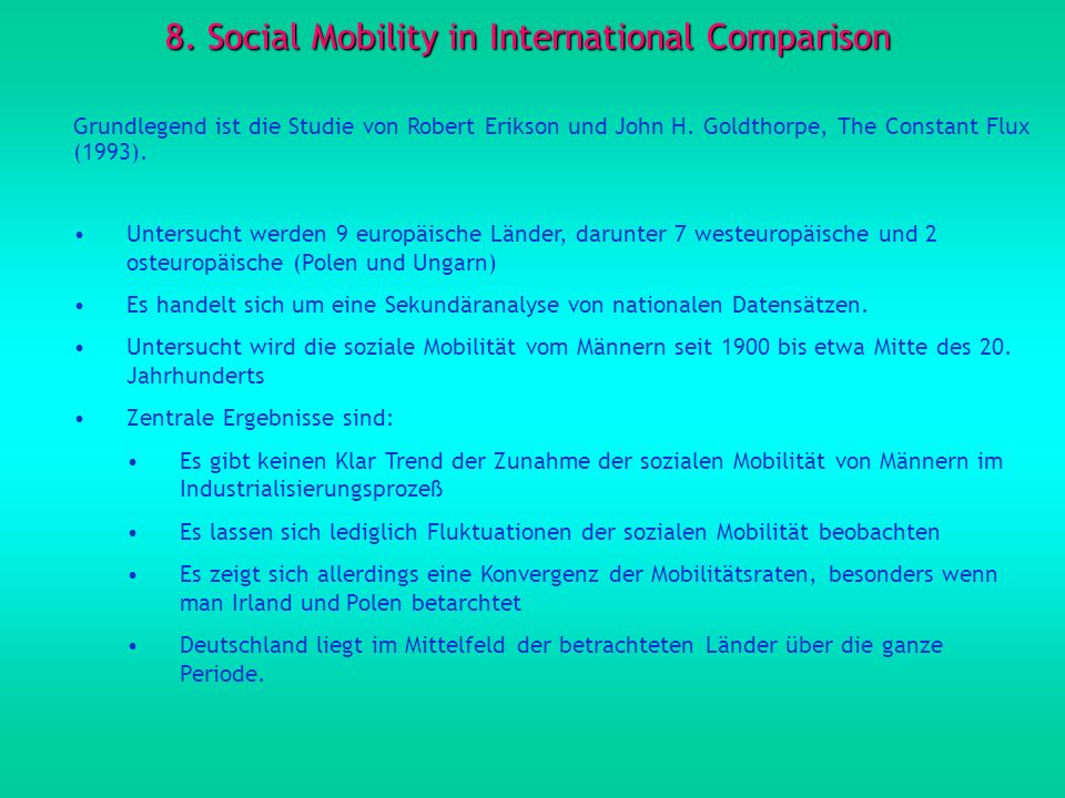 8. Social Mobility in International Comparison