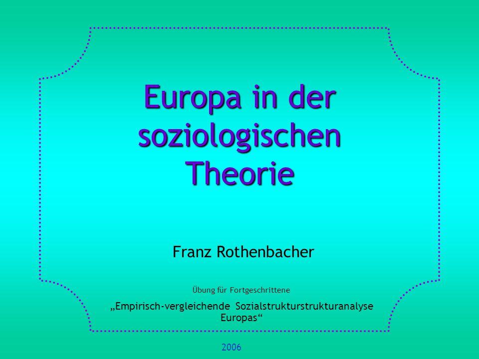 Europa in der soziologischen Theorie