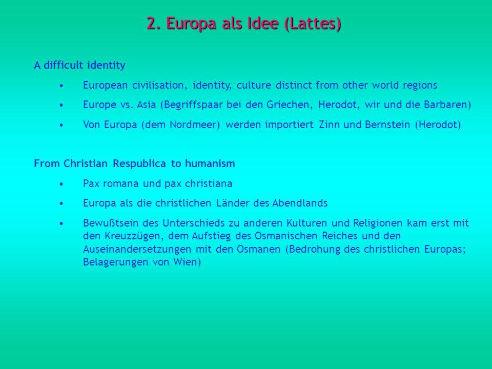 2. Europa als Idee (Lattes)
