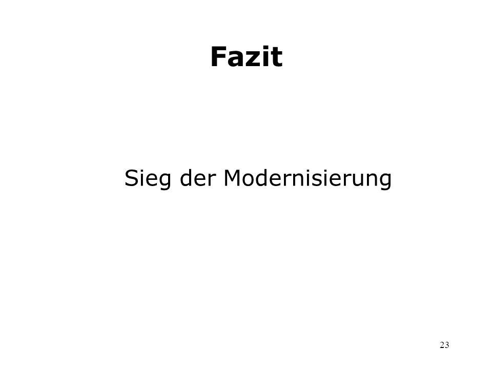 Sieg der Modernisierung
