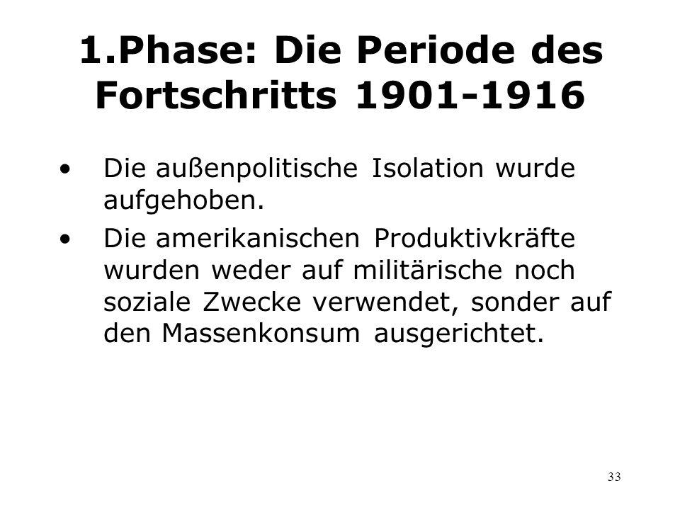 1.Phase: Die Periode des Fortschritts 1901-1916