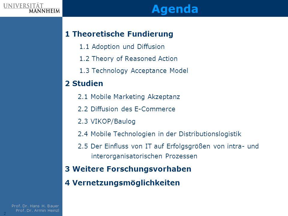 Agenda 1 Theoretische Fundierung 2 Studien