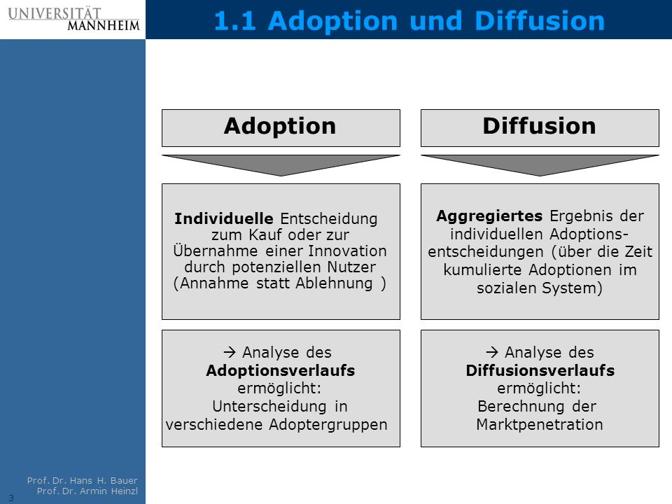 1.1 Adoption und Diffusion