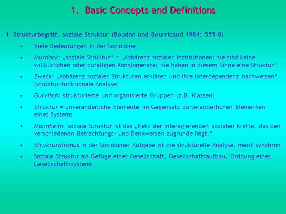 Basic Concepts and Definitions