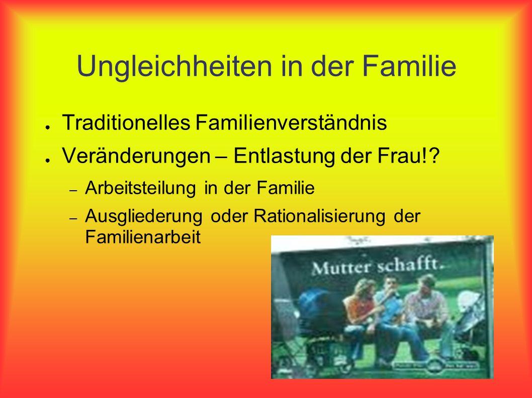 Ungleichheiten in der Familie