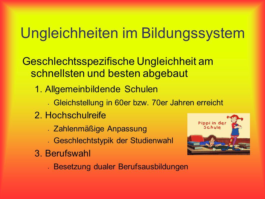 Ungleichheiten im Bildungssystem
