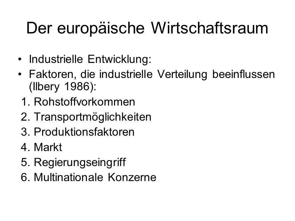 Der europäische Wirtschaftsraum