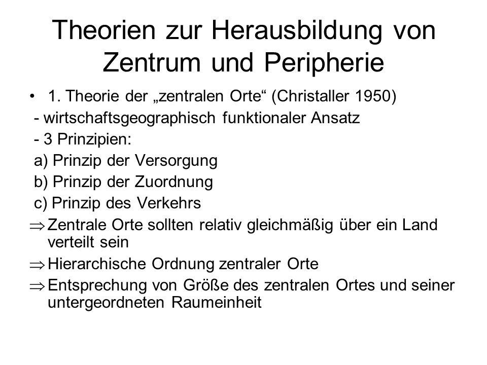 Theorien zur Herausbildung von Zentrum und Peripherie