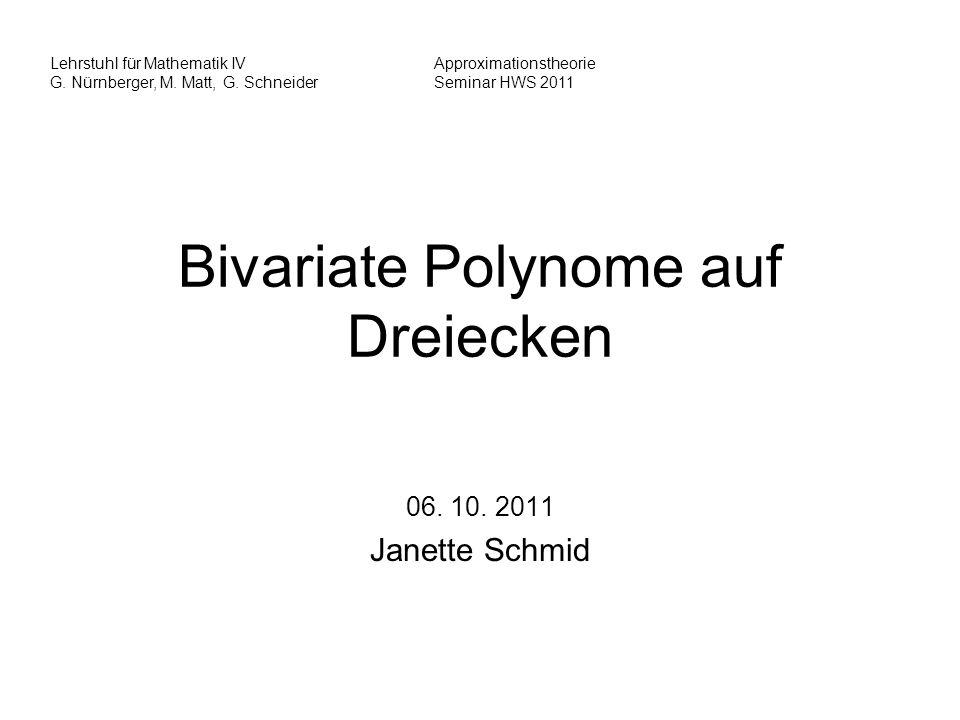Bivariate Polynome auf Dreiecken
