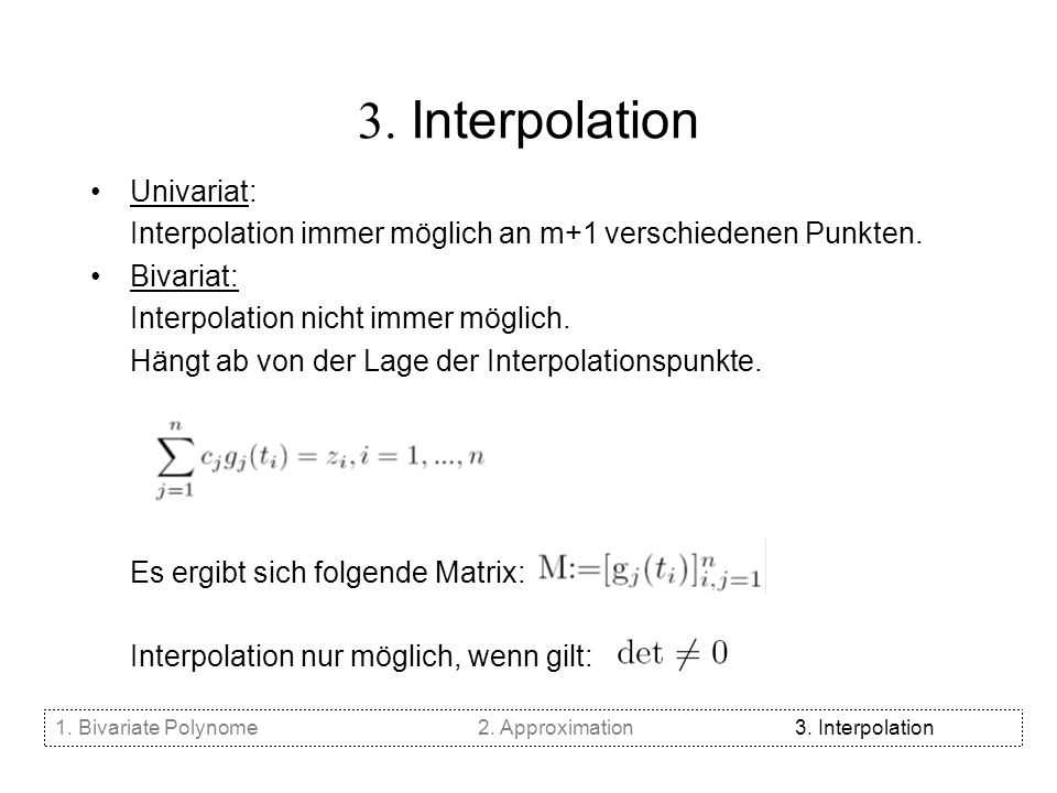 3. Interpolation Univariat: