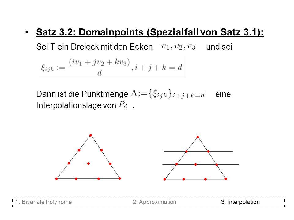Satz 3.2: Domainpoints (Spezialfall von Satz 3.1):