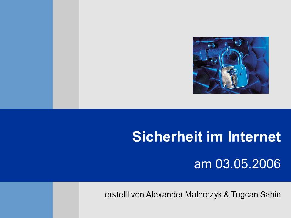Sicherheit im Internet am 03.05.2006