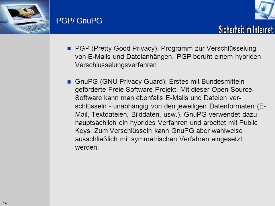 PGP/ GnuPG