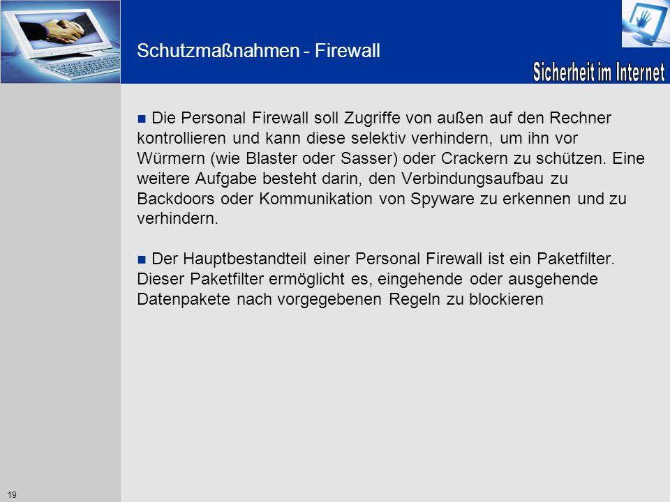 Schutzmaßnahmen - Firewall