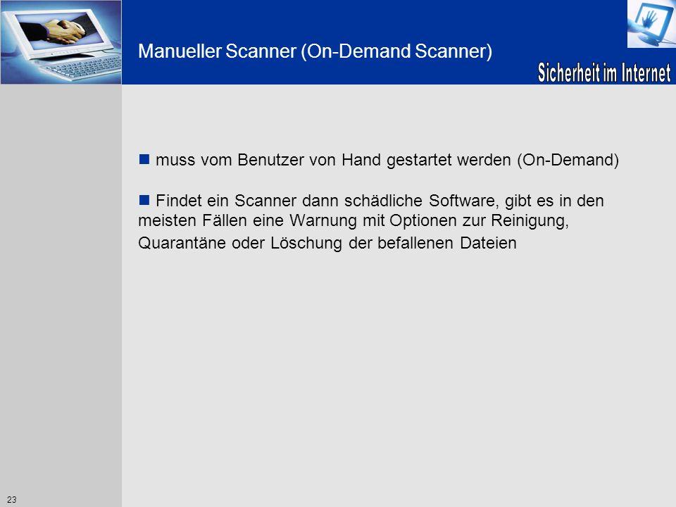 Manueller Scanner (On-Demand Scanner)