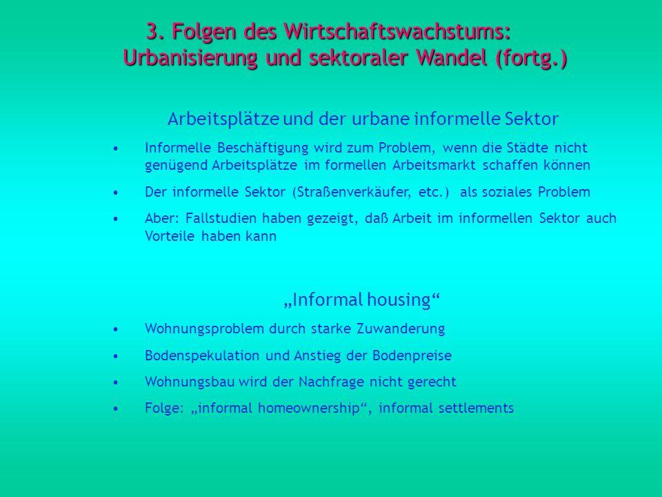 Arbeitsplätze und der urbane informelle Sektor