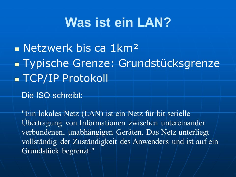 Was ist ein LAN Netzwerk bis ca 1km²